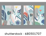 set of creative universal... | Shutterstock .eps vector #680501707