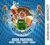 oktoberfest beer party | Shutterstock .eps vector #680503177
