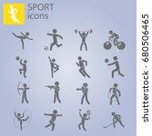 sport set. kinds of sports   Shutterstock .eps vector #680506465