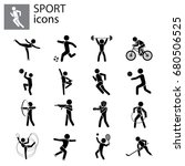 sport set. kinds of sports | Shutterstock .eps vector #680506525