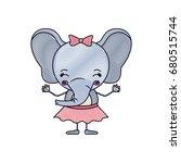 color crayon silhouette... | Shutterstock .eps vector #680515744