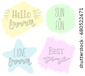 vector set of calligraphic... | Shutterstock .eps vector #680522671