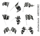 checkered flags set | Shutterstock .eps vector #68052382