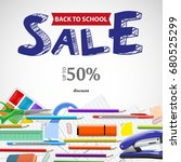 school wholesale ad background...   Shutterstock .eps vector #680525299