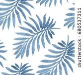 vector seamless floral pattern... | Shutterstock .eps vector #680537311