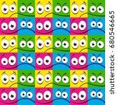 vector seamless pattern of... | Shutterstock .eps vector #680546665