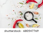 cooking food background  white... | Shutterstock . vector #680547769