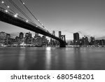 Brooklyn Bridge In Black And...