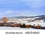 winter landscape in the ardennes | Shutterstock . vector #68054860