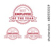 employee of the year  month ... | Shutterstock .eps vector #680553319