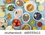 ingredients for healthy... | Shutterstock . vector #680555611