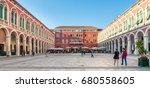 split  croatia   may 28  2015 ... | Shutterstock . vector #680558605