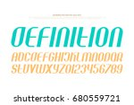 set of stylized alphabet... | Shutterstock .eps vector #680559721