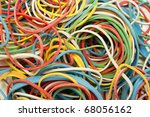 Rubber Bands Of Various Colors...