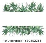 hand painted watercolor... | Shutterstock . vector #680562265