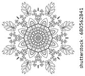 mandala isolated design element ... | Shutterstock .eps vector #680562841