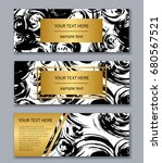 set of white  black and gold... | Shutterstock .eps vector #680567521