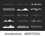 vector music sound waves set.... | Shutterstock .eps vector #680572561