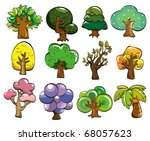 cartoon tree icon | Shutterstock .eps vector #68057623