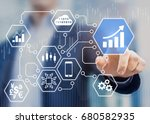 fintech  financial technology ... | Shutterstock . vector #680582935