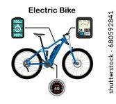 electric bike vector... | Shutterstock .eps vector #680592841