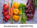Rainbow Colored Vegetables....
