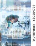 health care researchers working ...   Shutterstock . vector #680604739