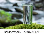 a glass of fresh water and a... | Shutterstock . vector #680608471