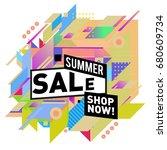 summer sale geometric style web ...   Shutterstock .eps vector #680609734