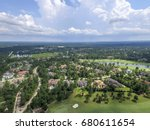 aerial view from the woodlands... | Shutterstock . vector #680611654