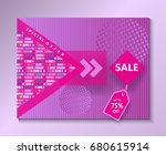 Sale background for Magazine, Fashion Brochure cover, poster, banner, voucher, gift card design. Modern Art Minimalist style Geometric dynamic shapes Valentine's Sale Vector Pink color poster template