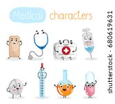 funny medicine equipment... | Shutterstock .eps vector #680619631