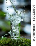 a glass of fresh water and a... | Shutterstock . vector #680620909