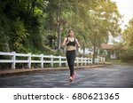 running woman. female runner... | Shutterstock . vector #680621365