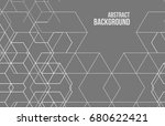 vector abstract boxes... | Shutterstock .eps vector #680622421