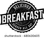 vintage all day breakfast menu... | Shutterstock .eps vector #680630605