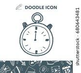 stopwatch doodle | Shutterstock .eps vector #680643481