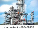 close up industrial zone. plant ... | Shutterstock . vector #680650957