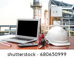 engineering industry concept in ... | Shutterstock . vector #680650999