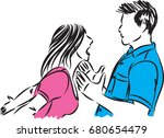 couple man and woman fighting... | Shutterstock .eps vector #680654479