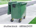 garbage can  dustbin  rubbish... | Shutterstock . vector #680662459