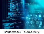 programming code abstract... | Shutterstock . vector #680664079