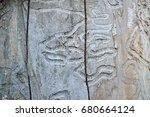 emerald ash borer damage | Shutterstock . vector #680664124