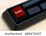 enter concept  keyboard with... | Shutterstock . vector #680672437