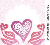 beautiful heart. vector...   Shutterstock .eps vector #680674789