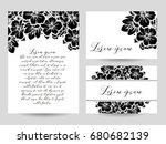 vintage delicate invitation... | Shutterstock .eps vector #680682139