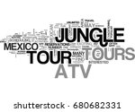 atv jungle tours in mexico text ... | Shutterstock .eps vector #680682331