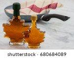 natural organic delicious maple ...   Shutterstock . vector #680684089