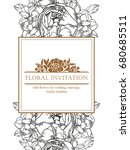 invitation with floral... | Shutterstock .eps vector #680685511