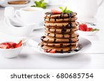 Stack Of Chocolate Pancakes...